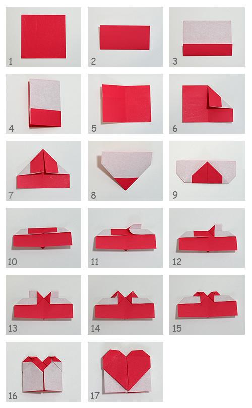 折り紙の 折り紙のハートの折り方 : piyota.com